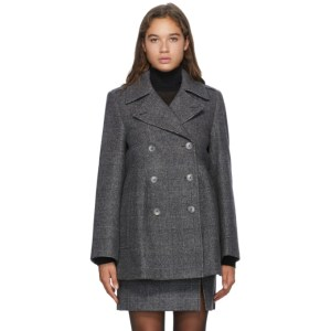 Nina Ricci Grey Wool Double-Breasted Jacket