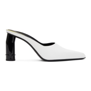 Nina Ricci White Pointed Heeled Mules