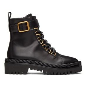 Valentino Black Valentino Garavani Lace-Up Boots