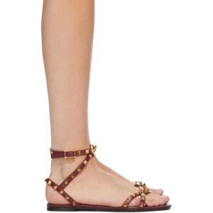 Valentino Red Valentino Garavani Rockstud Cross Flat Sandals