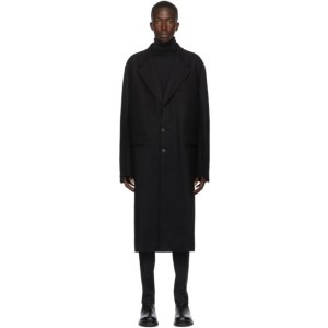 Valentino Black Wool Long Coat