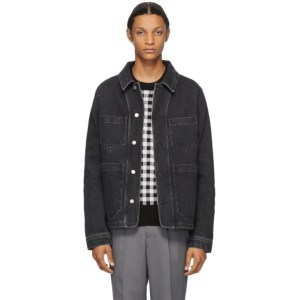 AMI Alexandre Mattiussi Black Denim Worker Jacket