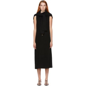 Kim Matin Black Cashmere Scarf Dress
