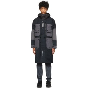 Colmar by White Mountaineering Black and Grey Down Pockets Coat