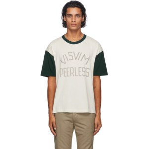 Visvim White and Green Jumbo T-Shirt