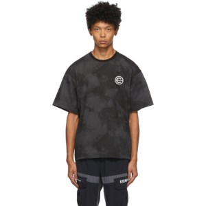 Colmar by White Mountaineering Black and Grey Printed T-Shirt