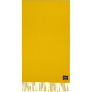 Drakes Yellow Merino and Cashmere Solid Scarf