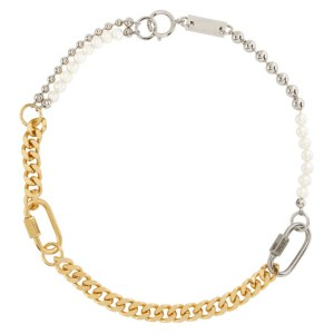 IN GOLD WE TRUST PARIS Gold and Silver Mix Bracelet Necklace