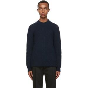 Sefr Navy Leth Sweater