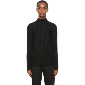 Sefr Black Wool Jay Turtleneck