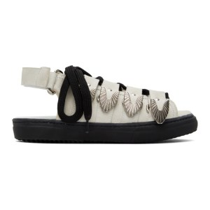 Toga Pulla White Suede Hardware Sandals