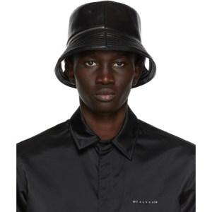 KARA Black Leather Bucket Hat Tote