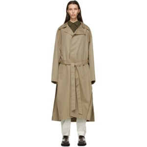System Beige Twill Trench Coat