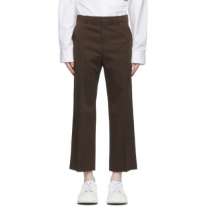 System Brown Cotton Trousers