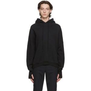 System Black Oversized Hoodie