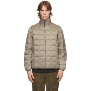 TAION Khaki Down Basic High Neck Puffer Jacket