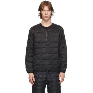 TAION Black Down Basic U-Neck Puffer Jacket