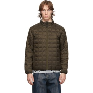 TAION Reversible Brown and Off-White Down Mountain Jacket