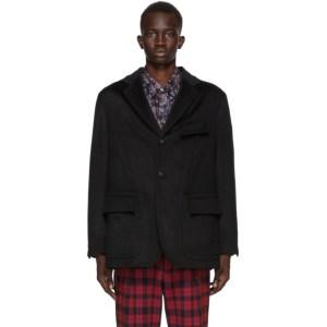4SDESIGNS Black Wool Dianamix Morning Blazer