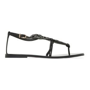Sophia Webster Black Butterfly Flat Sandals