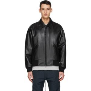 Fear of God Ermenegildo Zegna Black Double Collar Bomber Jacket