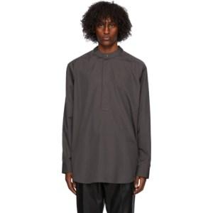 Fear of God Ermenegildo Zegna Grey Oversized Polo Neck Shirt