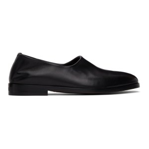 Fear of God Ermenegildo Zegna Black Slip-On Loafers