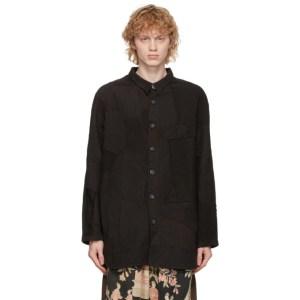 By Walid Black Silk Miles Shirt Jacket