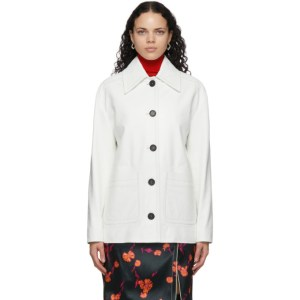 Meryll Rogge White Leather Vintage Jacket