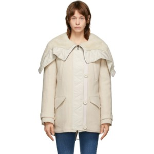 Yves Salomon - Army Beige Wool and Shearling Jacket
