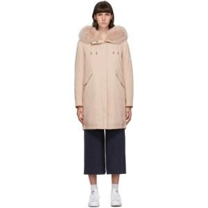 Yves Salomon - Army Pink Down Bachette Coat