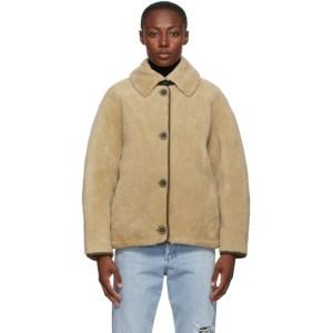 Yves Salomon - Army Reversible Beige Cropped Jacket