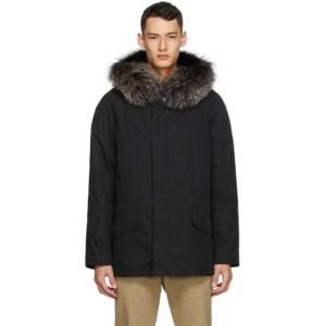 Yves Salomon - Army Black Lustre Bachette Fur Parka