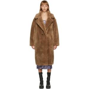 Yves Salomon - Meteo Brown Wool Double-Breasted Coat