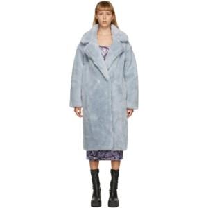 Yves Salomon - Meteo Blue Wool Double-Breasted Coat