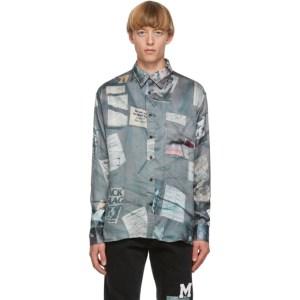 Mr. Saturday Black Oversized Printed Shirt