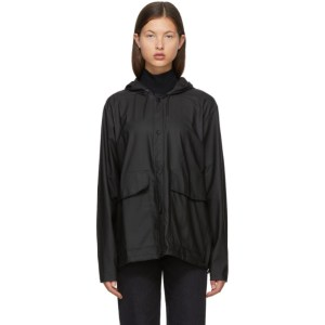 RAINS Black Taffeta Rain Jacket