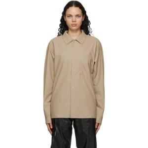 RAINS Beige Button-Down Shirt