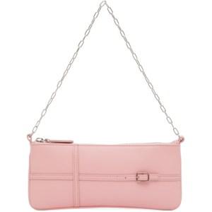 Abra Pink Belt Baguette Bag
