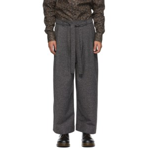Naked and Famous Denim SSENSE Exclusive Grey Jazz Nep Trousers