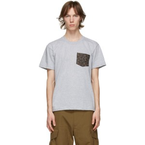 Naked and Famous Denim Grey Pocket T-Shirt