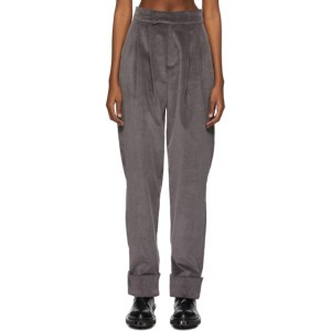BARRAGAN SSENSE Exclusive Grey Corduroy Pachecon Pieladero Trousers