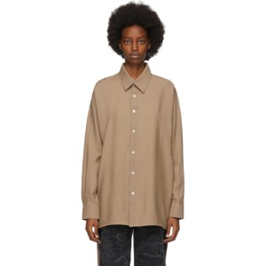 BARRAGAN Beige Pechera Shirt