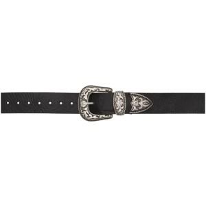Magda Butrym Black Leather Western Belt