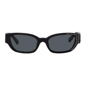 Magda Butrym Black Linda Farrow Edition Crystal Sunglasses