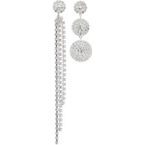 Magda Butrym Silver Asymmetrical Crystal Earrings