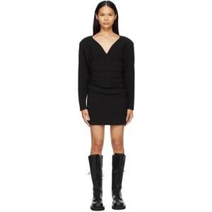 Magda Butrym Black Wool Long Sleeve Short Dress