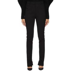 Magda Butrym Black Wool Zip Trousers
