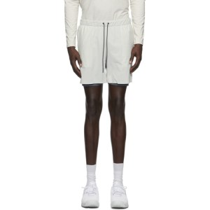 JACQUES Off-White Compression Shorts