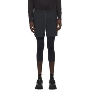 JACQUES Black Three-Quarter Compression Shorts